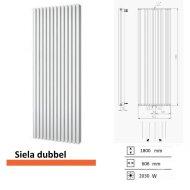 Handdoekradiator Boss & Wessing Siela Dubbel 1800 x 606 mm | Tegeldepot.nl