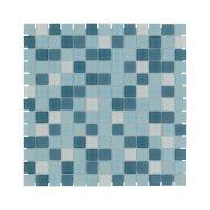 Mozaïek Montreal Kristal 31.8x31.8 cm Helder Met Mat Glas Groen Mix (Prijs Per 1.01 m2)