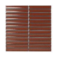 Mozaïek Sevilla Kit-Kat 29.6x29.9 cm Geglazuurd Porselein, Glanzend Terra Rood (Prijs Per 0.89 m2)
