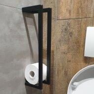 Toiletrolhouder Sanilux Staal 45x10x13cm Mat Zwart