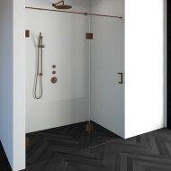 Nisdeur Compleet Just Creating Profielloos 2-Delig (Draaideur Bevestigd op Inloopwand) 170x200 cm 100/70 Koper