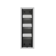 Radiator Sanicare Middenaansluiting Recht 864 Watt Inclusief Ophanging 160x45 cm Mat Zwart