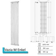 Designradiator Vazia M Enkel 1970 x 304 mm Antraciet metallic