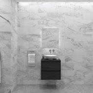 Badkamermeubelset Gliss Zeus 60 cm Zwart Eiken Met Waskom