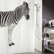 Douchegordijn Allibert Spirella Zebra zwart 180x200cm