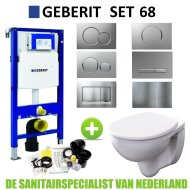 Geberit UP320 Toiletset set68 Geberit Econ Compact Rimfree met Sigma drukplaat