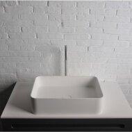 Opbouwwastafel Ideavit Solidthin 50x35x12.5 cm Solid Surface Mat Wit