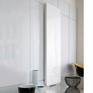 Handdoekradiator IP Cupertino Glas Wit In 6 Verschillende Maten (Ook in elektrische uitvoering)