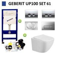 Geberit UP100 Toiletset Design Randloos Bano Set61 met Delta Drukplaat