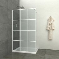 Inloopdouche Allibert Walk-In 120x200 cm 8mm Industrieel Wit Raster (incl. stabilisatiestang)