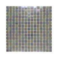 Mozaïek Amsterdam 32.2x32.2 cm Parelmoer Glas Donker Grijs (Prijs Per 1.04 m2)