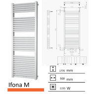 Badkamerradiator Ifona M 1770 x 500 mm Zwart grafiet (Black graphite)
