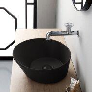 Waskom By Goof Mees Design Opbouw Wastafel Rond 42 cm Mat Zwart