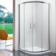 Douchecabine Kwartrond Lacus Panarea 80x80x190 cm Helder Glas Aluminium Profiel