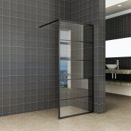 Inloopdouche Horizon 120x200 cm Inclusief Mat-Zwart Raster en NANO Glas
