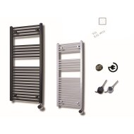 Elektrische Design Radiator Sanicare Plug En Play 111,8 x 60 cm Wit Thermostaat Zwart 730 Watt
