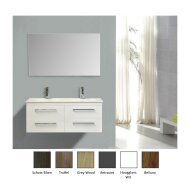 Badkamermeubelset Sanicare Q14 4 Laden Grey-Wood (spiegel optioneel)