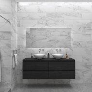 Badkamermeubelset Gliss Zeus 160 cm Zwart Eiken Met Waskom