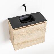 MONDIAZ OLAN 60cm toiletmeubel washed_oak. LEX wastafel urban midden geen kraangat
