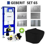 Geberit UP320 Mat Zwart Toiletset set65 Mudo Randloos met Sigma Drukplaat