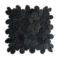 Mozaiek Mat Pebble Sliced Tumb Honed S Gray Swarthy Sea Stone 30x30 cm