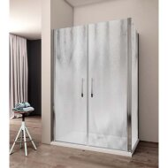 Douchecabine Lacus Giglio Fox 120 cm Chinchilla Glas Aluminium Profiel (1 zijwand)