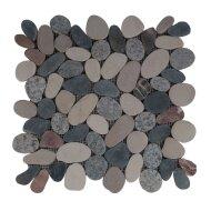 Mozaiek Mat Pebble Sliced Tumb Honed S Mix Ctbbr Sea Stone 30x30 cm (Prijs per 1m²)