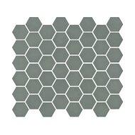 Mozaïek Valencia 27.8x32.5 cm Recycled Glas, Hexagon Mat Khaki (Prijs Per 1.00 m2)