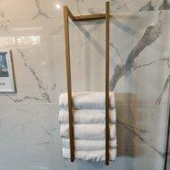 Handdoekenrek BWS Industrieel 95x25x20 cm Staal Mat Goud