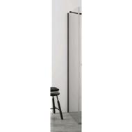 Zijwand voor Inloopdouche BWS Pure Day 100x200 cm Zwart Profiel