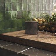 Wandtegel Zellige Olive 10x10 cm Glans Groen (doosinhoud 0.8 m2)