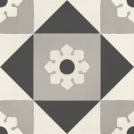 Portugese Vloertegel Jos Hidro Coffeebreak 19.7x19.7 cm Black (doosinhoud 1.20 m2)