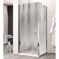 Douchecabine Lacus Giglio Fox Eéndelig 90 cm Chinchilla Glas Aluminium Profiel (1 zijwand)