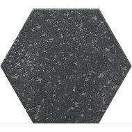 Hexagon Vloertegel Azulejo Decoratia Diane Antraciet 22.5x25.9 cm (doosinhoud 0.88 m2 )