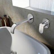 Wastafelmengkraan Hotbath Friendo 3+3 Inbouwsysteem 1-hendel Cascade Uitloop 19 cm Chroom