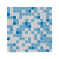 Mozaïek Amsterdam Basic 32.2x32.2 cm Glas Met Fijne Korrels Licht Blauw Mix (Prijs Per 1.04 m2)