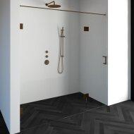 Nisdeur Compleet Just Creating Profielloos 2-Delig (Draaideur Bevestigd op Inloopwand) 200x200 cm 140/60 Koper