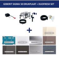 Bedieningsplaat Geberit Sigma 50 DF + DuoFresh Geurzuiveringssysteem Gitzwart