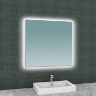 Badkamerspiegel Boss & Wessing Luc Rechthoek Inclusief LED Verlichting Backlight 80 cm