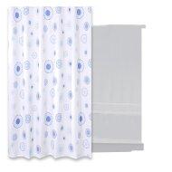 Douchegordijn Differnz Rado Polyester 180x200 cm Blauw