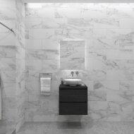 Badkamermeubelset Gliss Zeus 70 cm Zwart Eiken Met Waskom