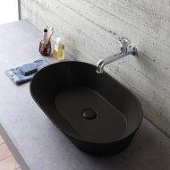 Waskom By Goof Mees Design Opbouw Wastafel Ovaal 60x42 cm Mat Zwart