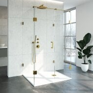 Douchecabine Compleet Just Creating Profielloos XL 100x120 cm Goud
