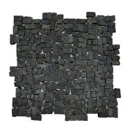 Mozaïek Random Small Black Gray Lava/Riverstone 30x30 cm (Prijs per 1m²)