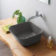 Waskom By Goof Mees Design Opbouw Wastafel Vierkant 42x42 cm Mat Grijs