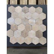 Mozaiek Hexagon Moccacino Y 30x30 cm Marmer Licht Bruin