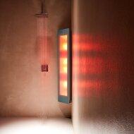 Sunshower Combi Organic Grey UV en Infrarood Opbouwapparaat 30x145x23 cm Aluminium Antraciet