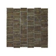Mozaiek Parquet 1x4.8 30x30 cm Marmer Moccacino (doosinhoud 1 m2)