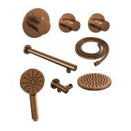 Thermostatisch Inbouwdoucheset Brauer Copper 20cm Hoofddouche Wandarm 3 Standen Handdouche Koper
