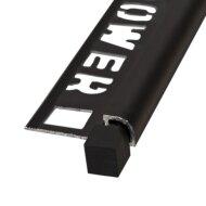 Hoekstuk Tegelprofiel NOZOX 12,5mm Rond Binnenhoek Mat Zwart (per 2 stuks)